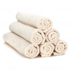 wuwei Frottee Handtuch ecru | 6x Gästehandtuch 30 x 50 cm