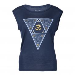 Bodhi Yoga Tank Top Damen - ETHNO TRIANGLE, navy S