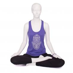 Bodhi Womens Tank Top - purple, Hamsa silver L