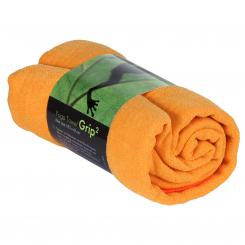 Yogatuch GRIP ² Yoga Towel mit Antirutschnoppen safran orange