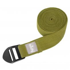 Yoga strap ASANA BELT, with plastic buckle olive green