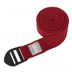 Yoga strap ASANA BELT, with plastic buckle burgundy