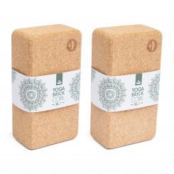 Yoga Block KORK BRICK XL - B Set (2 Stück)