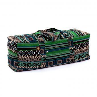 Yoga Kit Bag   ETHNO Collection   schwarz-weiß-grün gemustert