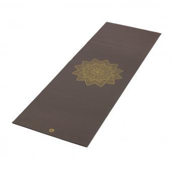 Yogamatte RISHIKESH Premium 60 mit goldenem Mandala taupe
