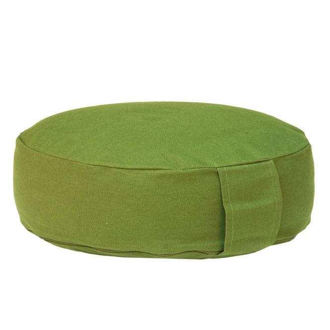 Coussin de méditation RONDO BASIC extra plat vert olive