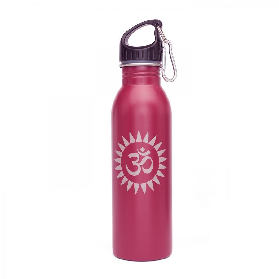 Edelstahl-Trinkflasche, 700 ml, unifarben mit Print OM Sun