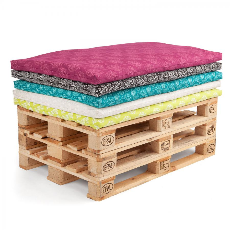 Pallet seat cushions, Maharaja Collection, 120 x 80 cm