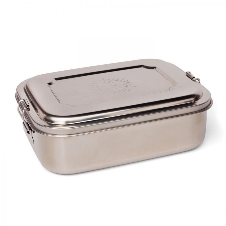 bodhi Edelstahl Lunchbox mit Namaste Gravur groß, ca. 19 x 14,5 x 6,7 cm