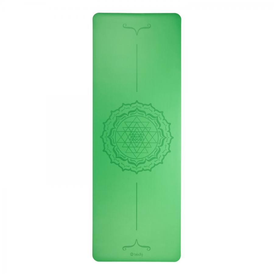 Design Yogamatte PHOENIX Mat, grün mit Yantra-Mandala