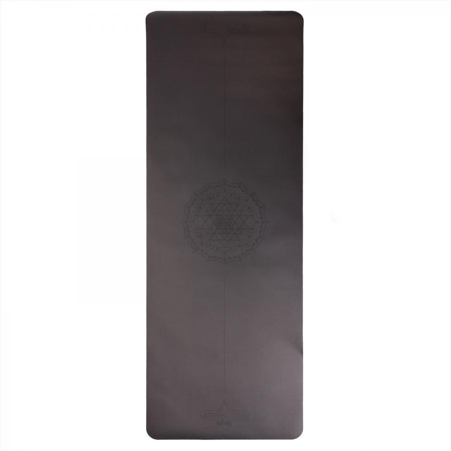 Design Yogamatte PHOENIX Mat, schwarz mit YANTRA