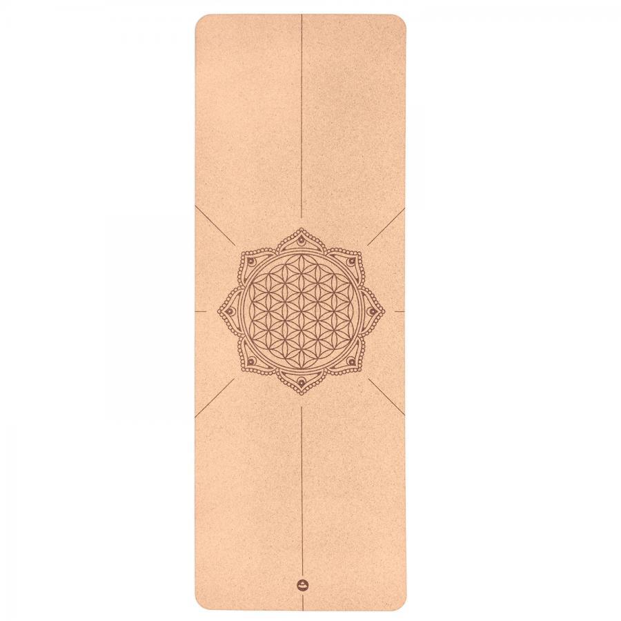Tapis de yoga en liège, FLEUR DE VIE