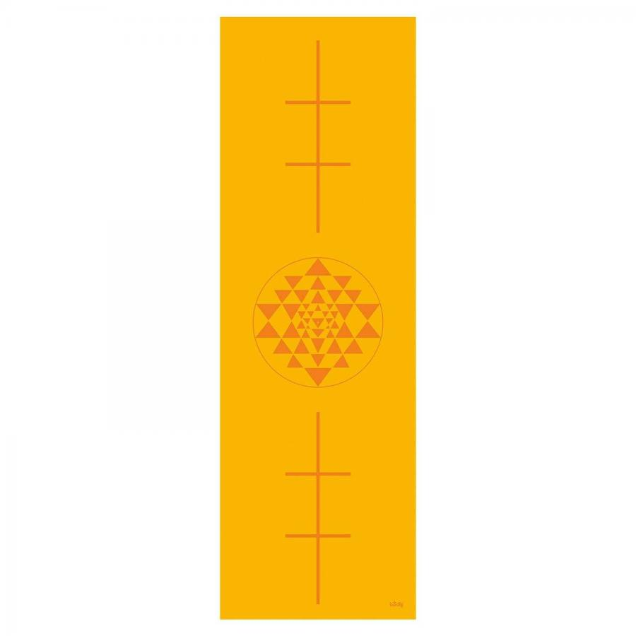 Design Yogamatte YANTRA/ALIGNMENT, The Leela Collection Yantra/Alignment, saffron