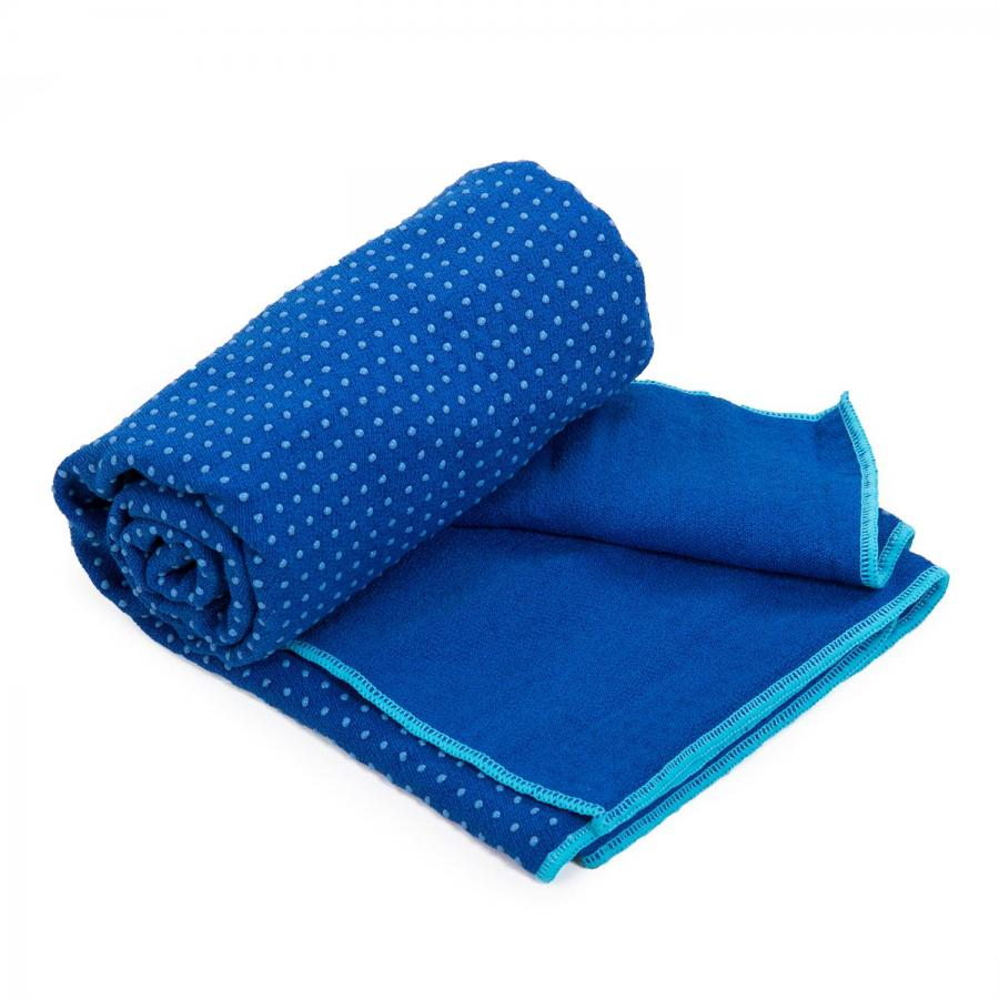 Yogatuch GRIP ² - Zweifarbig blau/aqua
