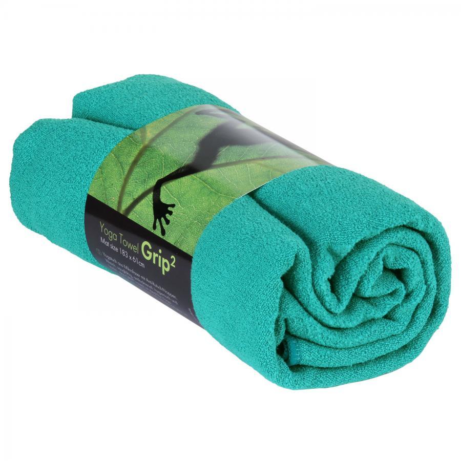 Yogatuch GRIP ² Yoga Towel mit Antirutschnoppen petrol