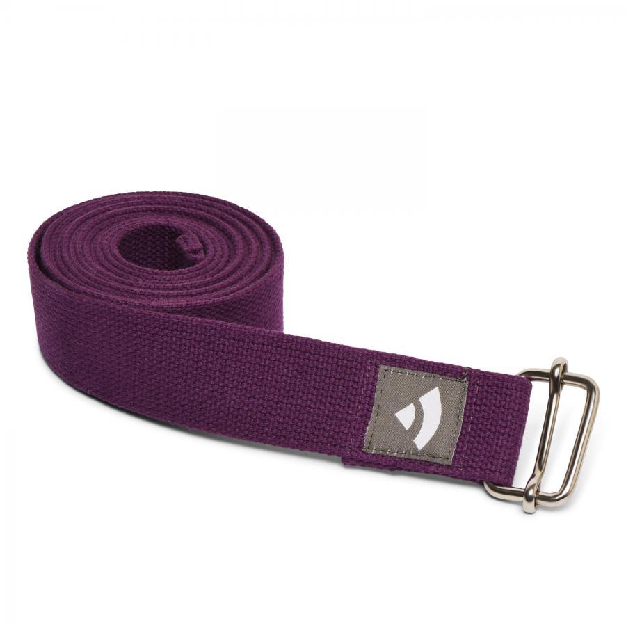 Yogagurt mit Schiebeschnalle ASANA BELT 2,5m, Metall lila