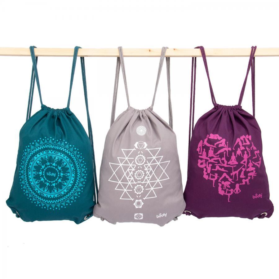 Drawstring bag, cotton with print