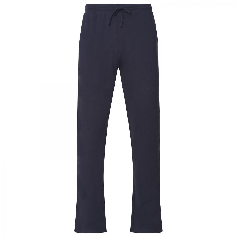 Pantalon de yoga Yamadhi pour hommes à coupe droite, coton biologique, bleu