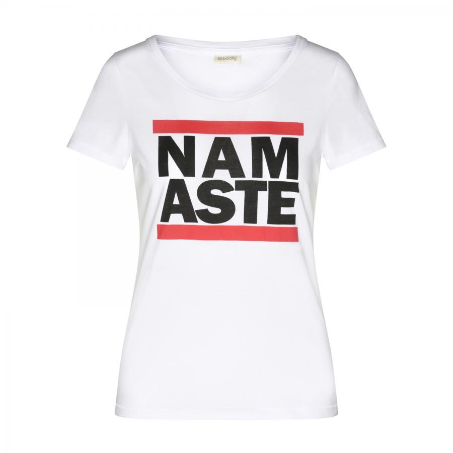 Bodhi Womens T-Shirt - Design: Run Namasté, weiß