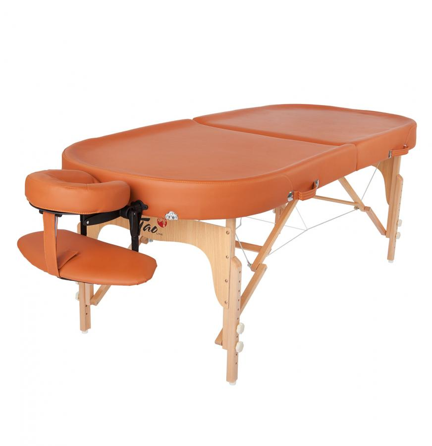 Table de massage TAOline AYURVEDA OVAL, terracotta