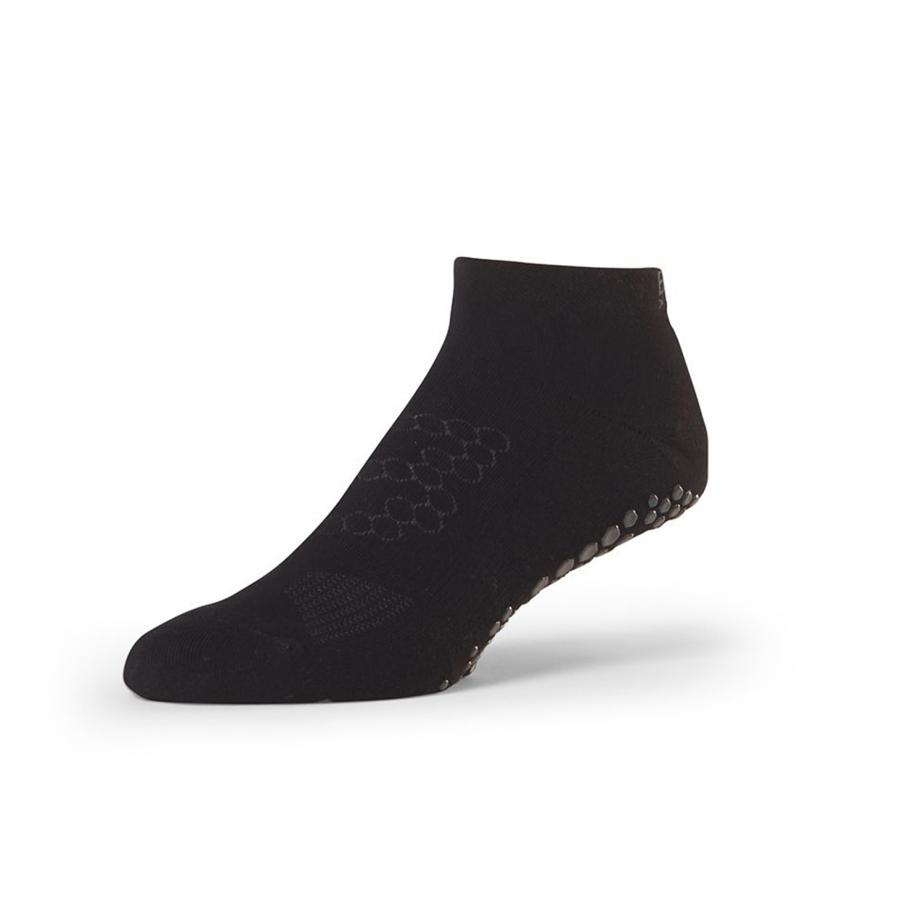 Base Anti-Rutsch Socken für Yoga & Fitness (Herren) | Low Rise Black
