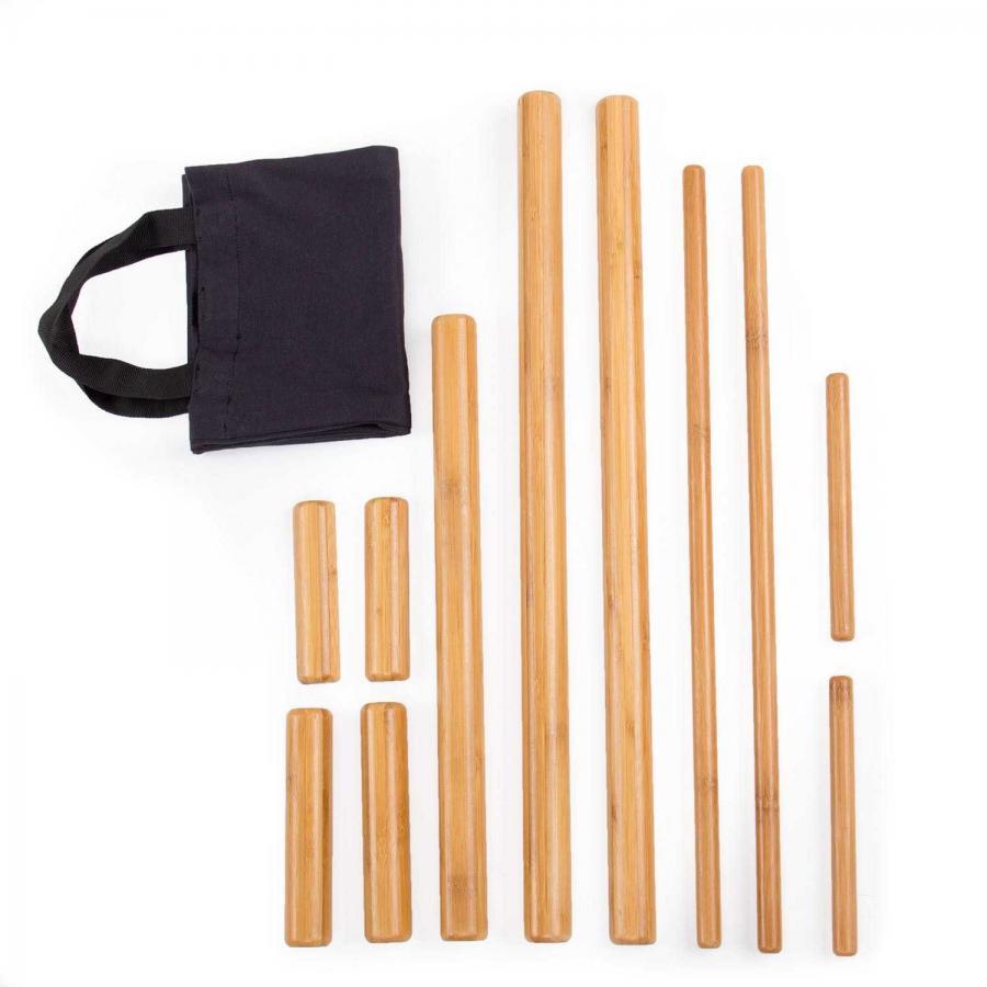 Bambus Massage Set 11-teilig