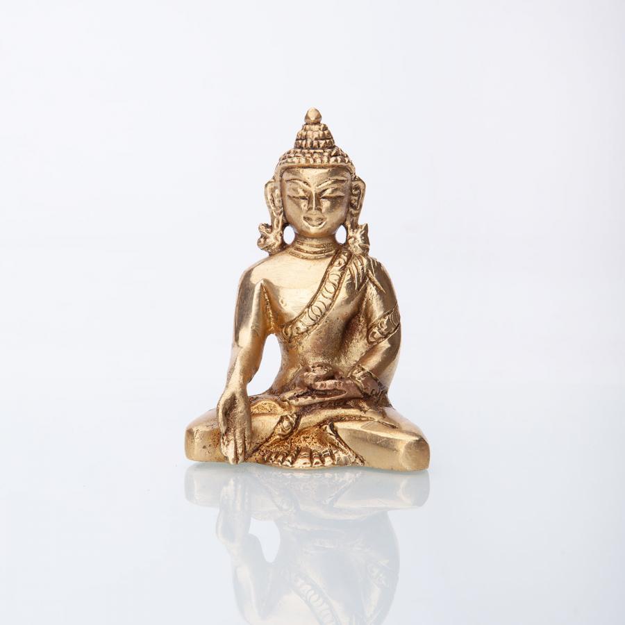 Statuette de Bouddha, laiton, 8 cm