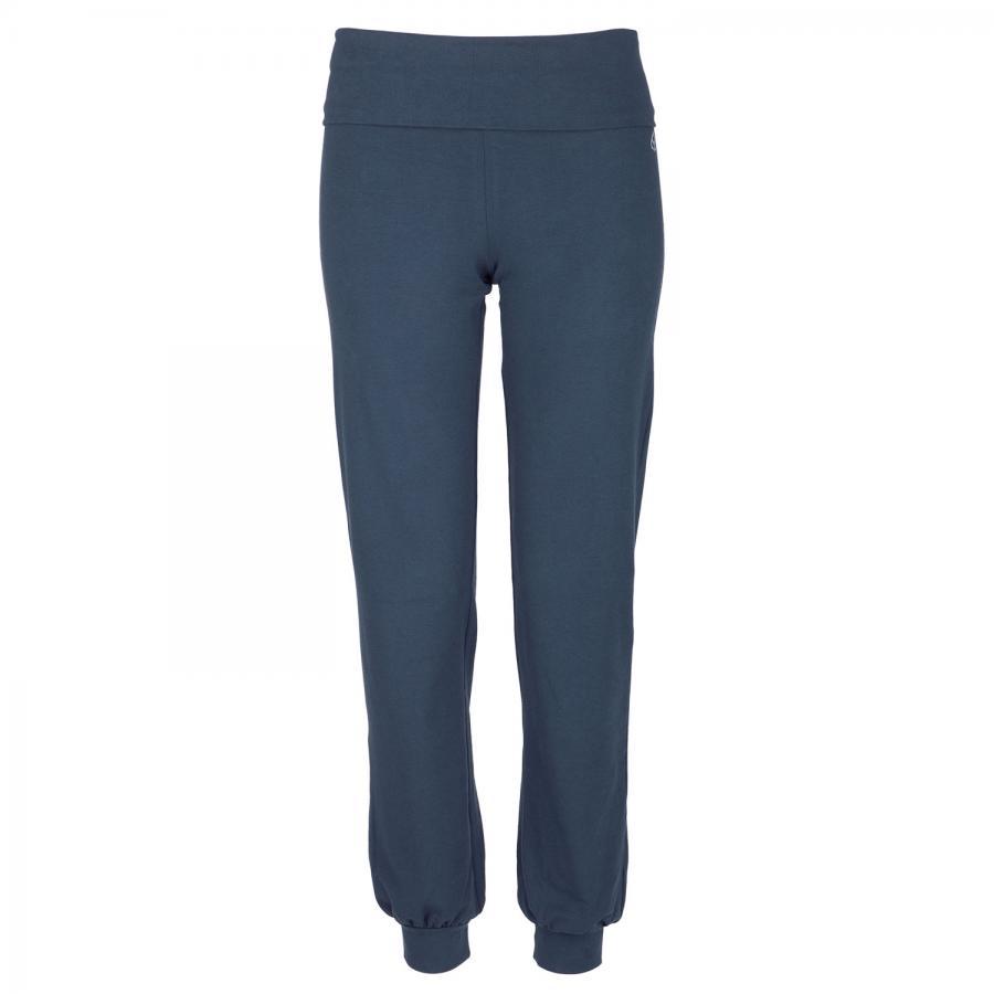 Yamadhi Roll Down Yoga Pants w. ankle cuffs, organic cotton, dark blue