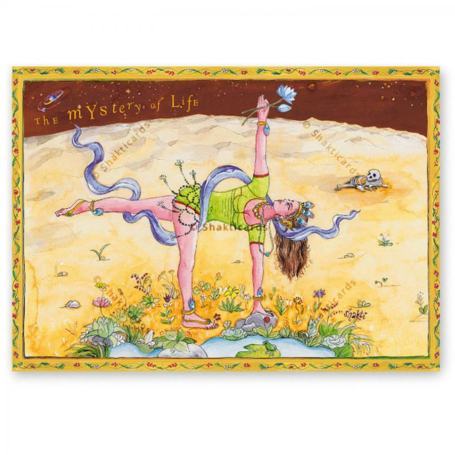 "Yoga Postcard ""The Mystery of Life"""