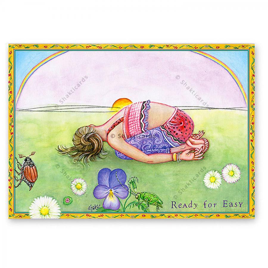 "Yoga Postkarte ""Ready for Easy"""