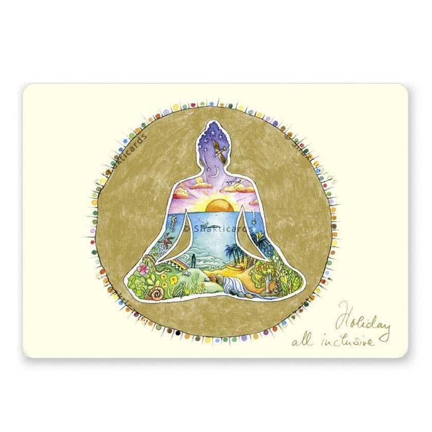 "Yoga Postcard ""Holiday all Inclusive"""