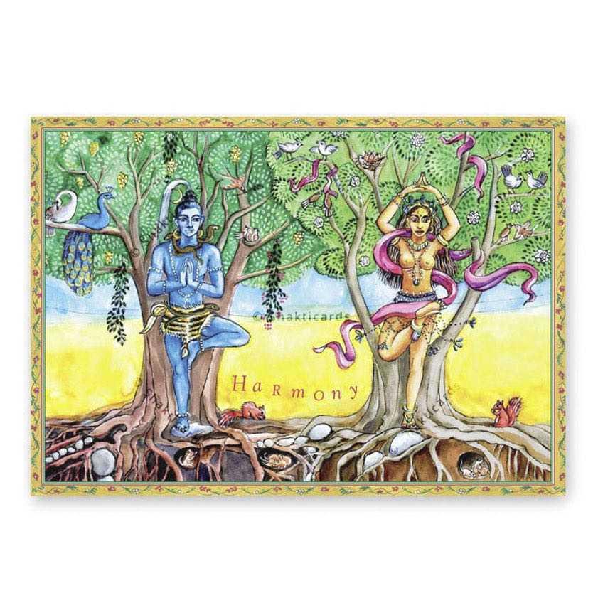 "Yoga carte postale ""Harmony"""