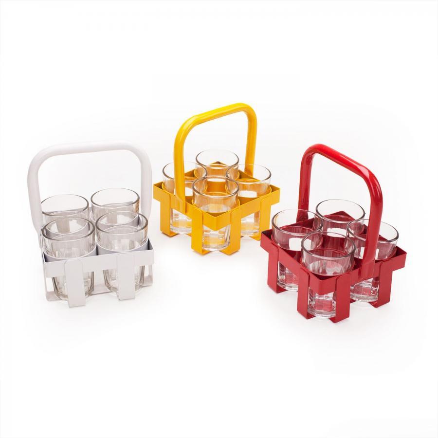 Chai-Glas-Träger inkl. 4 Chai-Gläser