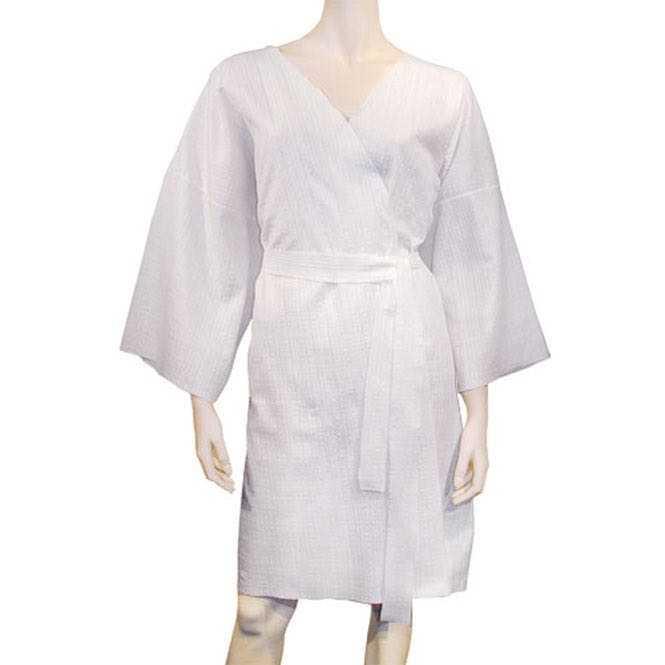 Disposable kimono bathrobe - white 1 piece