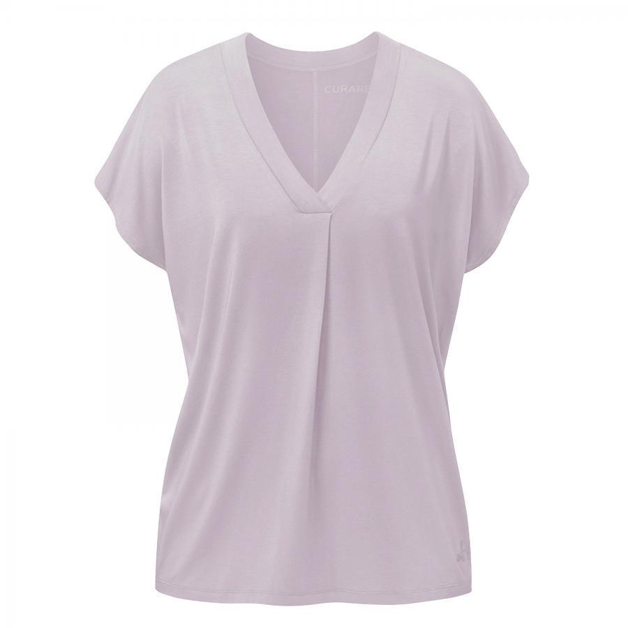 CURARE Flow Shirt V-Neck Box Pleat, puder-rosa