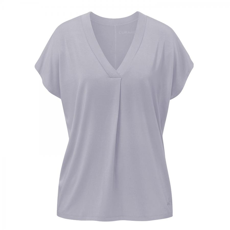 CURARE Flow Shirt V-Neck Box Pleat, new pearl