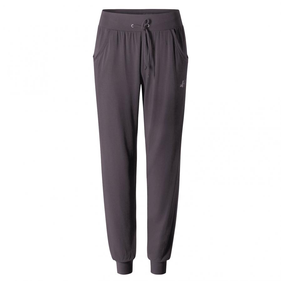 CURARE pantalon long ample, aubergine
