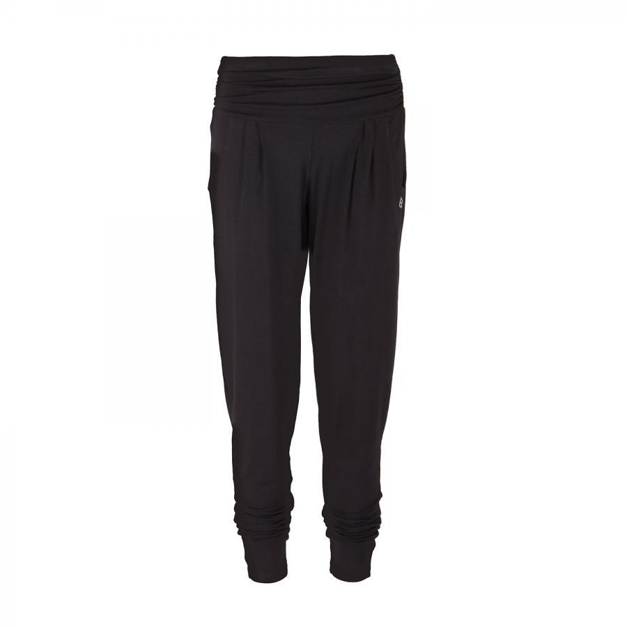 Yamadhi Loose Pants, bequeme Yogahose, Viskose, Schwarz