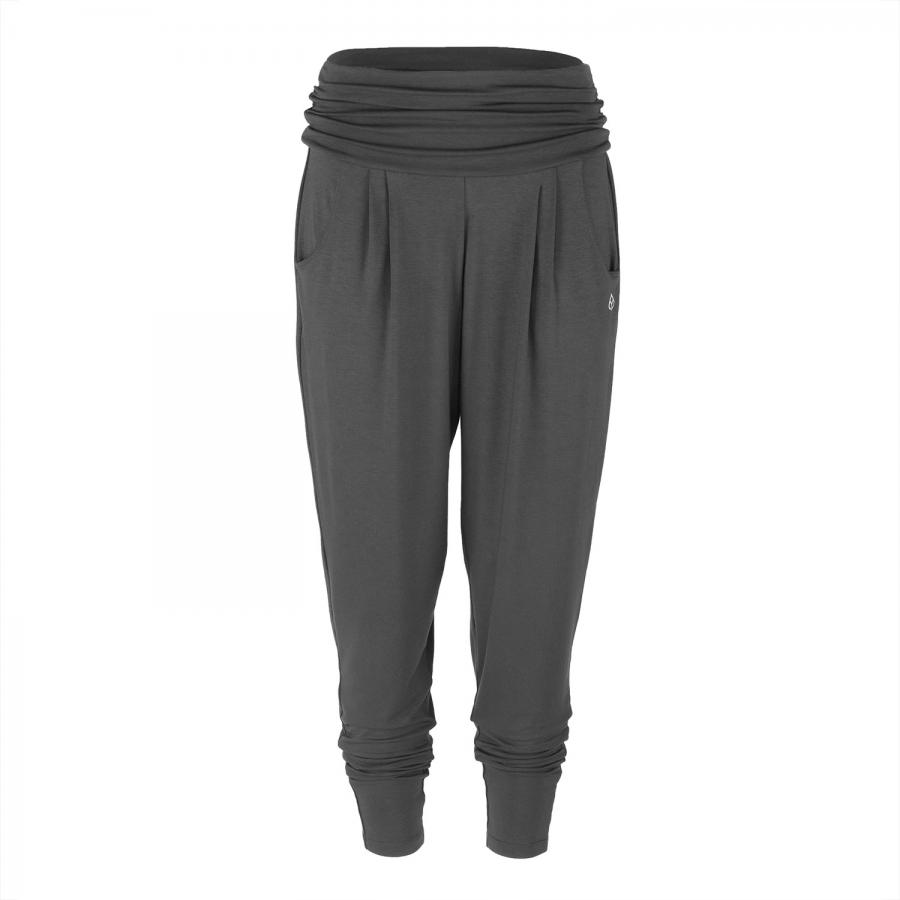 Yamadhi Loose Pants, bequeme Yogahose, Viskose, Anthrazit (Dark Shadow) S