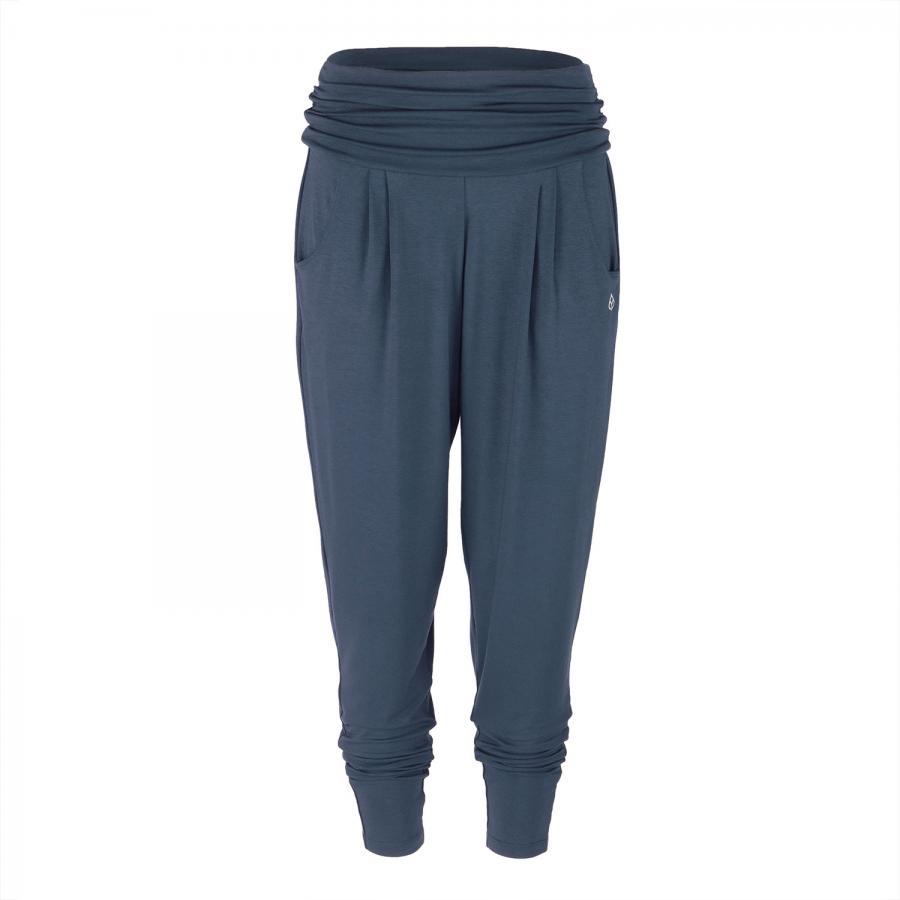 Yamadhi pantalon ample, confortable, viscose, bleu foncé (Black Iris)