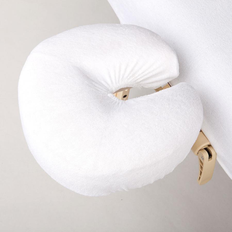 Wuwei - Housse de têtière en tissu-éponge blanc