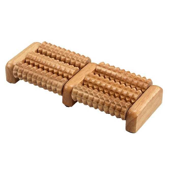 Fußmassageroller aus Holz, 6 Rollen
