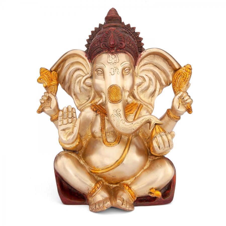 Ganesha Statue, Mehrfarbig, ca. 25 cm