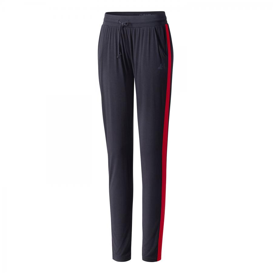 CURARE Pants Galon Stripe Color Blocking: midnight blue/cherry