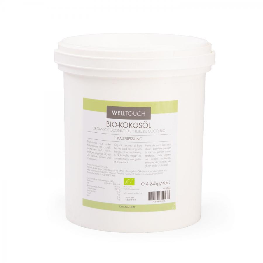 Huile de coco biologique, 4,6 litres