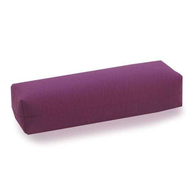 Yoga Bolster SALAMBA CLASSIC aubergine (Köper) | Kapok