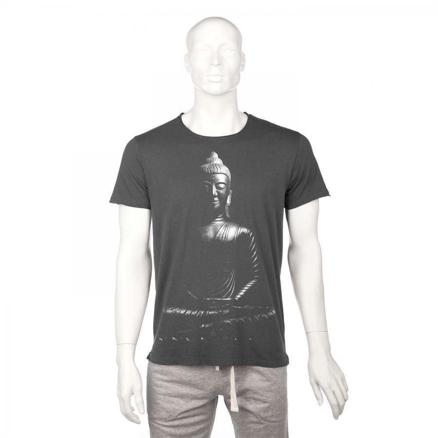 T-shirt homme BODHI - Bouddha, anthracite