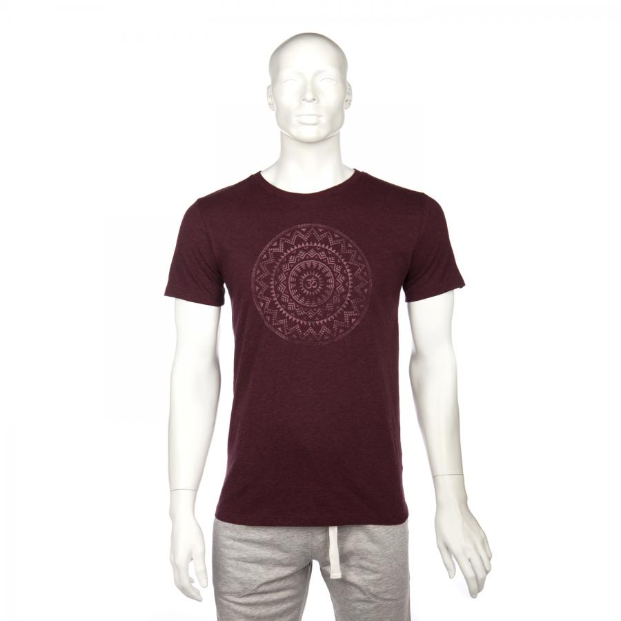 Bodhi Yoga Shirt Männer - ETHNO MANDALA, grape red