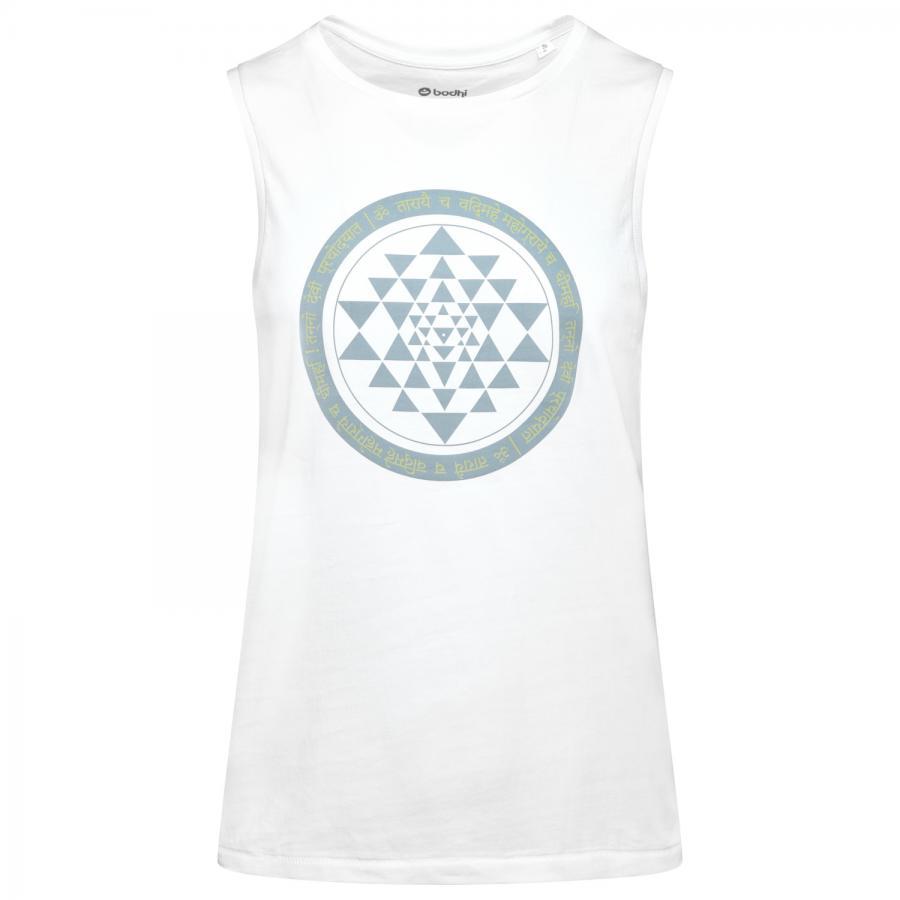 Ärmelloses Yoga Shirt für Herren, weiß – YANTRA & GAYATRI