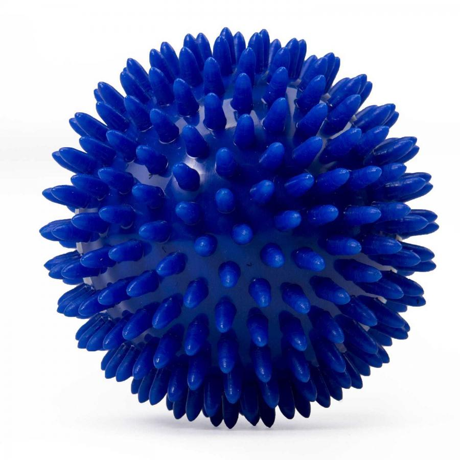 Spiky Balls 9 cm - blue (1 piece)